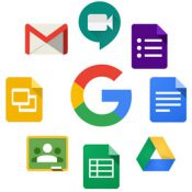 Google suite for education icons