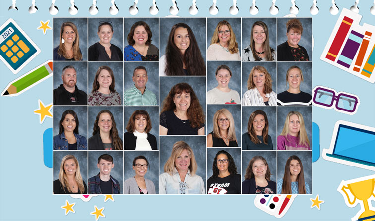 composite of JH teacher yearbook photos