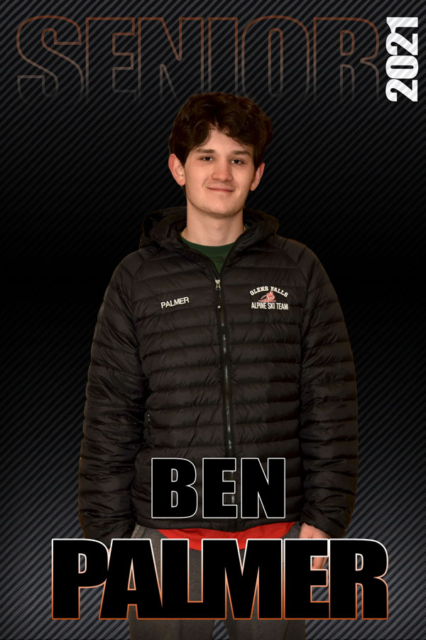 composite graphic of student smiling with text Ben Palmer Senior 2021
