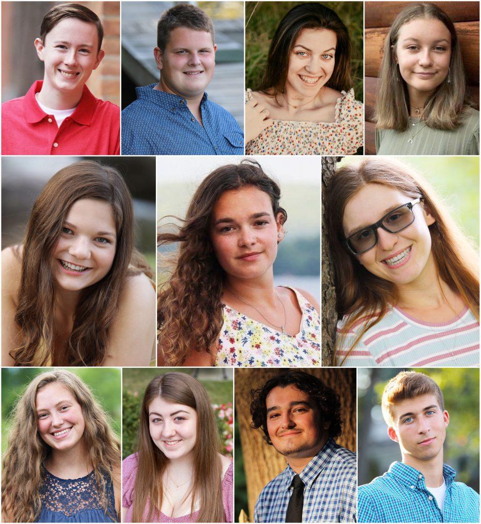composite image of 11 students' senior portraits